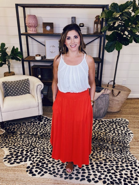 Be Amazing Maxi Skirt - Tomato