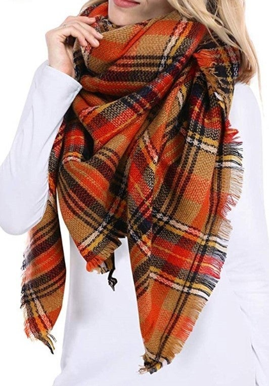 By The Fire Scarf - Orange