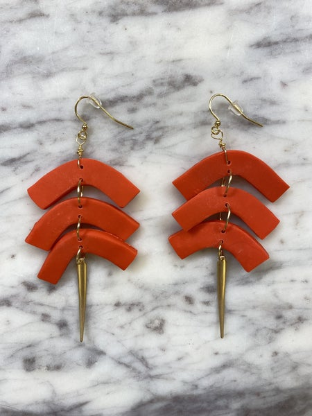 Chic'd Out Fan Favorite Earrings - Tangerine