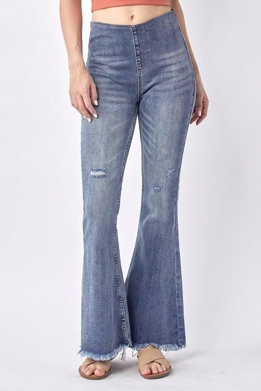 Until We Meet Again Vintage Flare Jeans - Medium Wash