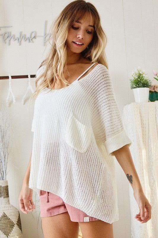 Like Sunday Morning Sweater - White