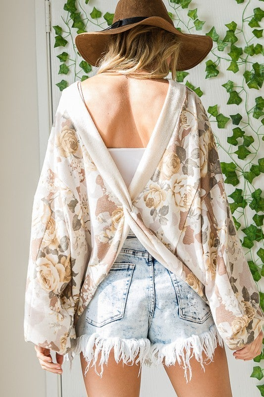 Sweet Roses Pullover Top