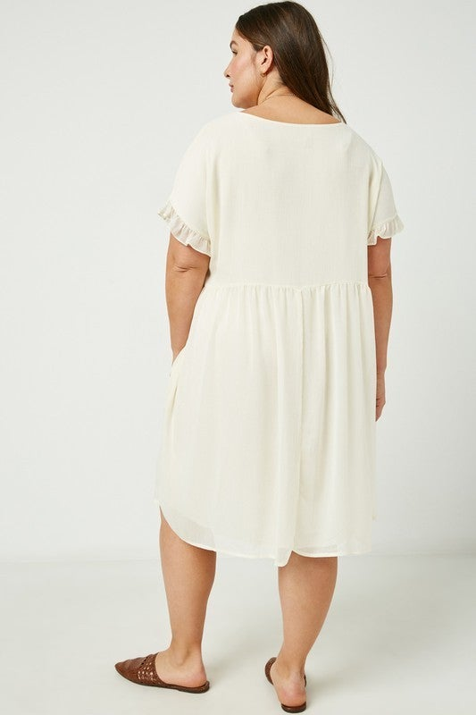 Simply Spring Tunic Dress - Ivory