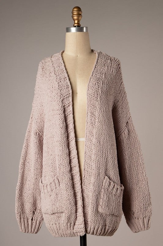 Let's Cuddle by the Fire Cardigan - Blush