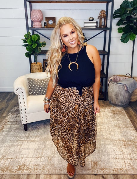 Breathtakingly Beautiful Leopard Skirt
