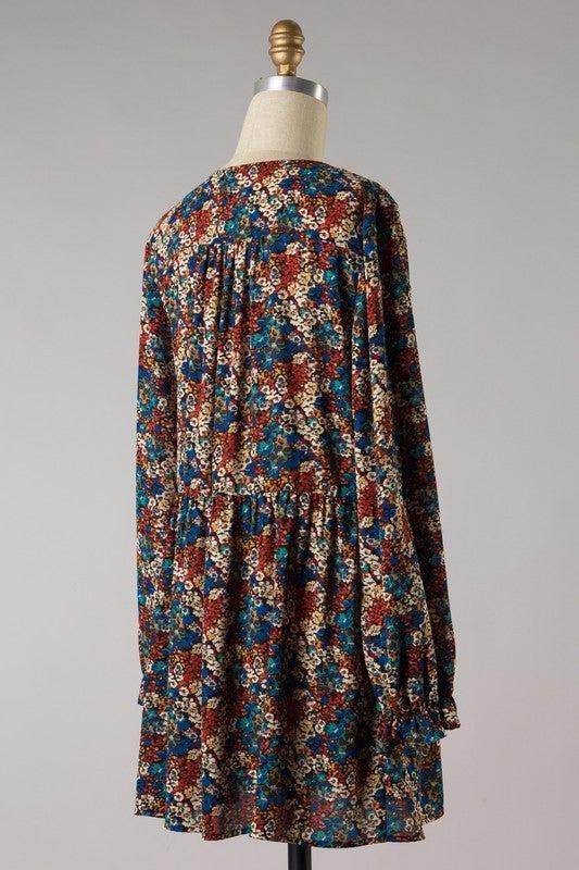Beautiful Boho Flowers Dress