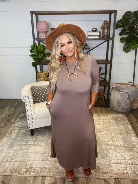 Simply Sensational Dress - Cocoa