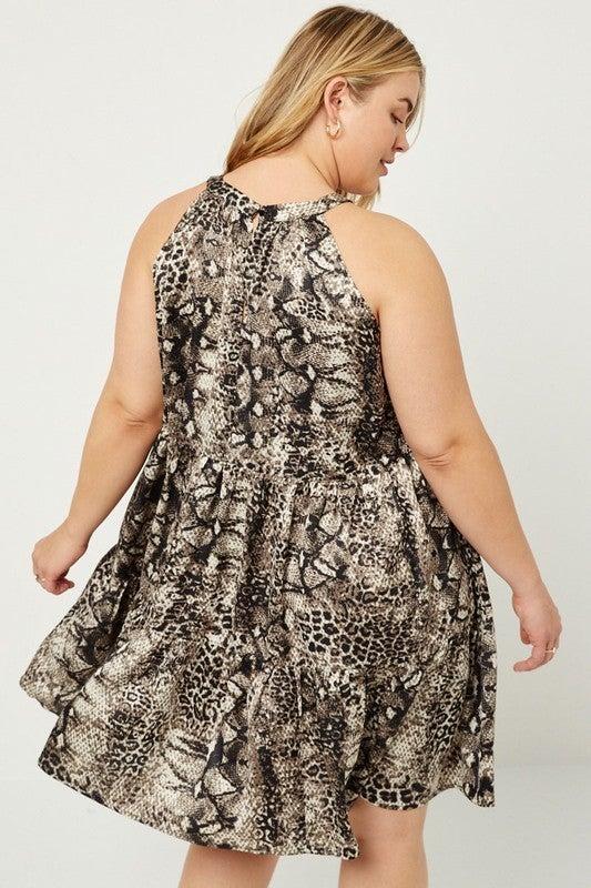Swing High Leopard Dress