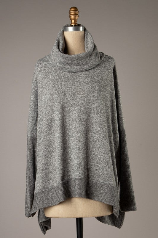 Lazy Day Reading Sweater - Heather Gray