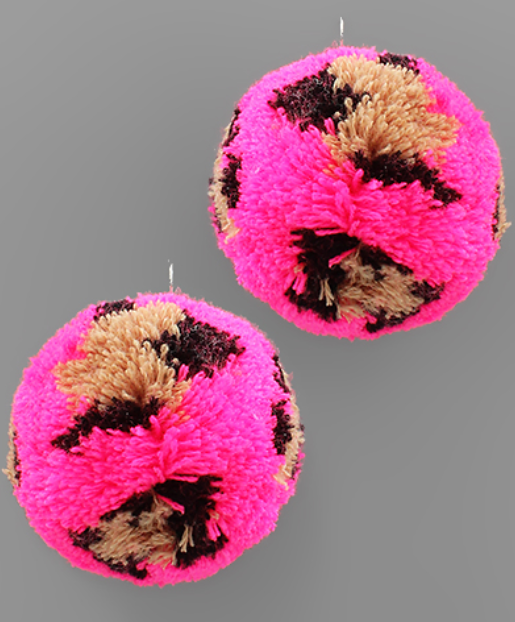 Wild About PomPoms Earrings