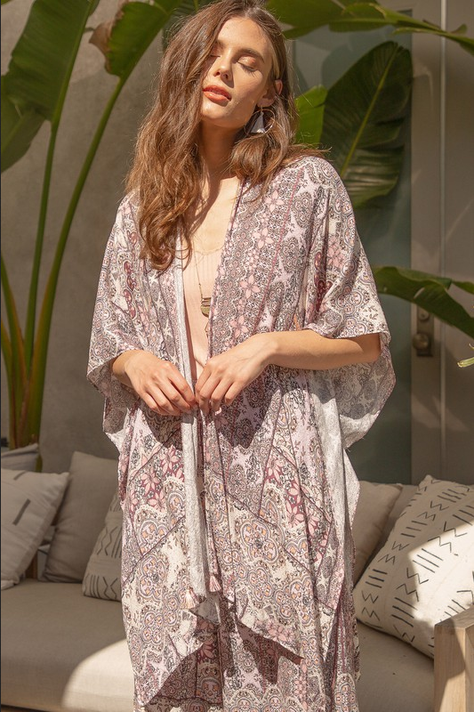 It's All Fun Kimono - Blush