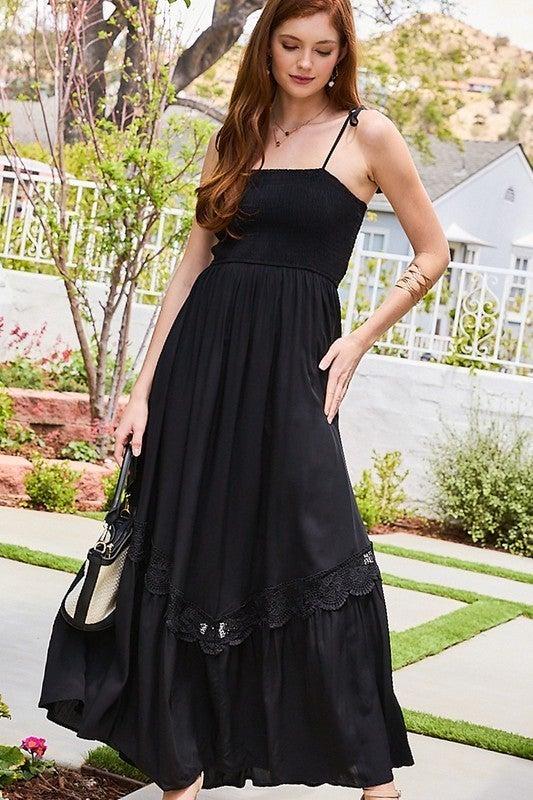 All Day Fun Maxi Dress - Black