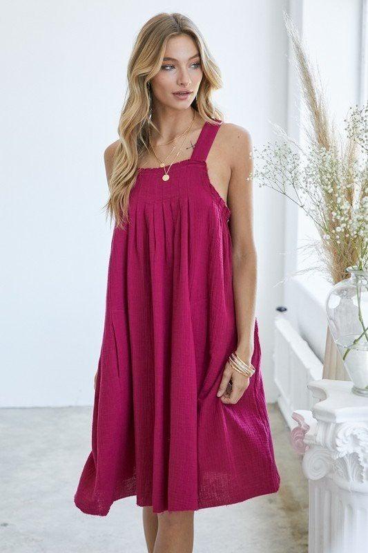 Reg/Plus Find Your Fun Dress - Magenta