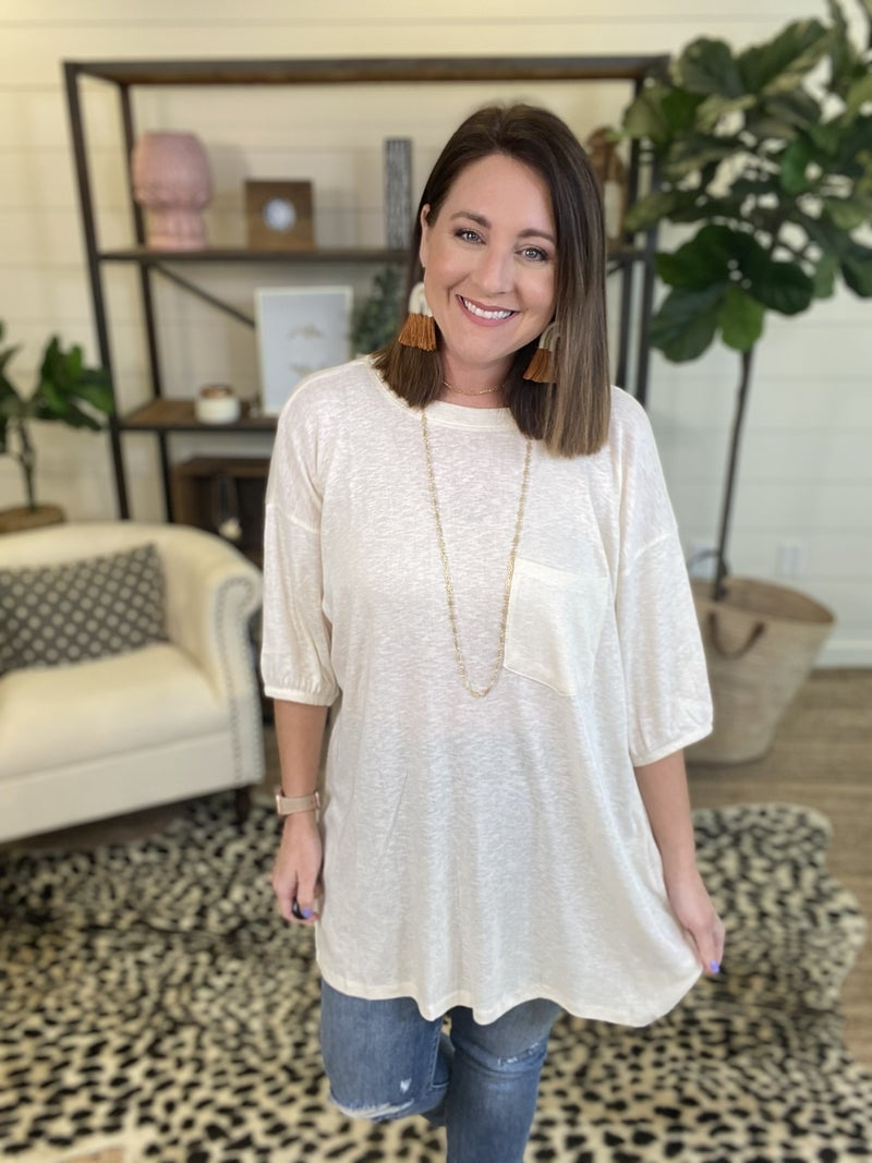 Standing Out Tunic - Ivory