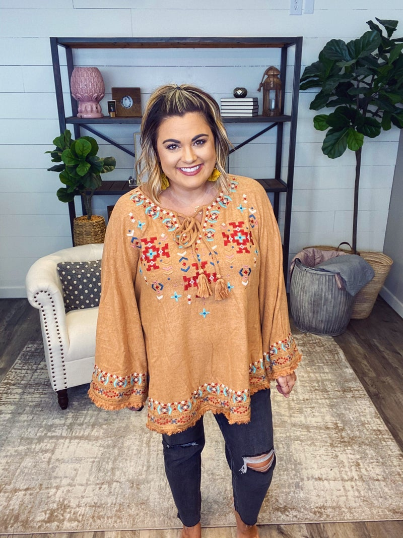 Love is in the Air Embroidered Top