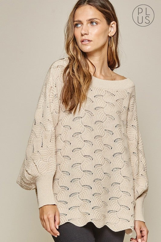 Off of My Shoulder Top - Taupe