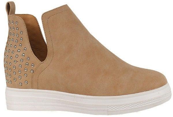 Strut & Shine Heeled Sneakers - Beige