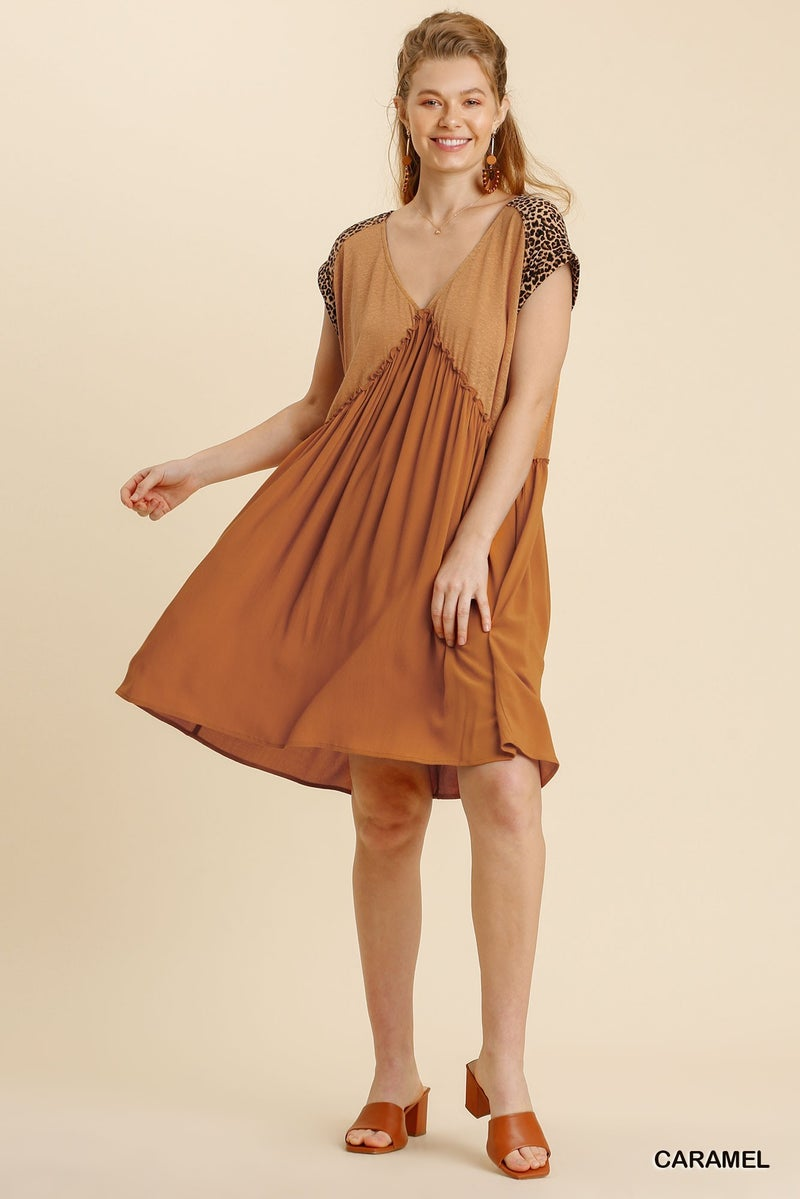 Dare To Be Fun Dress - Caramel