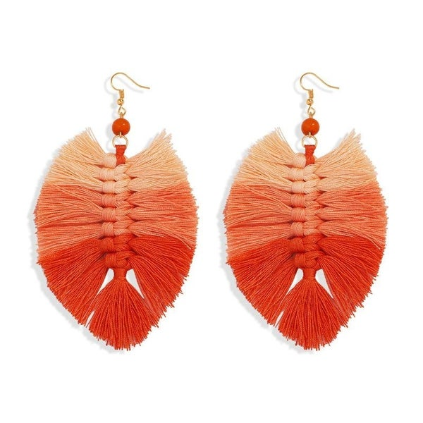 Your Biggest Fan Earrings - Orange Ombre