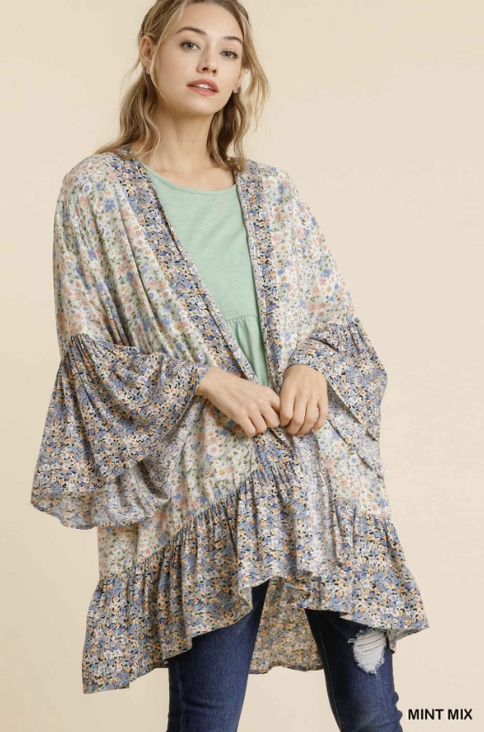 Stay Focused Kimono - Mint Mix