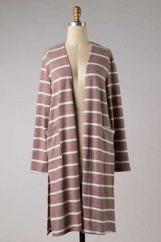 Cozy In Stripes Cardigan