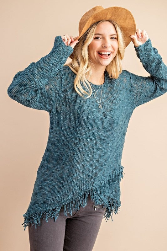 Frays for Days Sweater Top