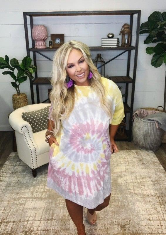 Hello Sunshine Tie Dye Dress