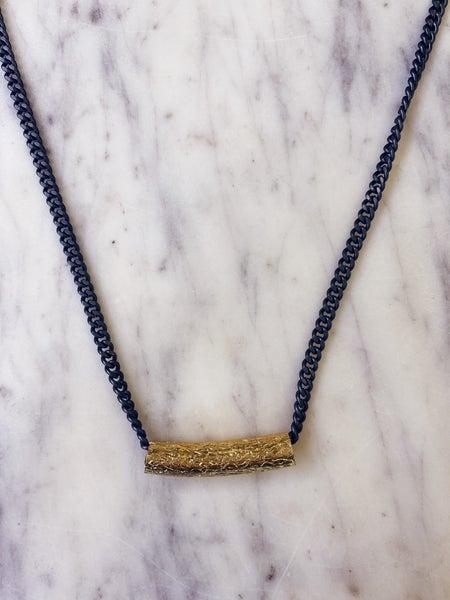 Jennifer Thames - Gold Bar Necklace