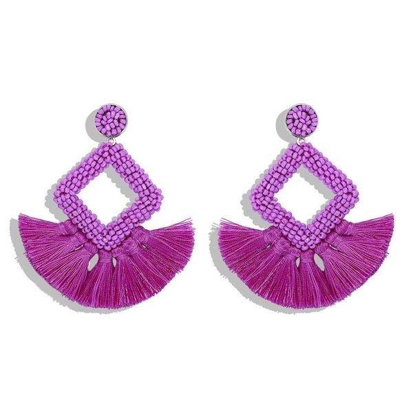 So Frilling Earrings - Purple