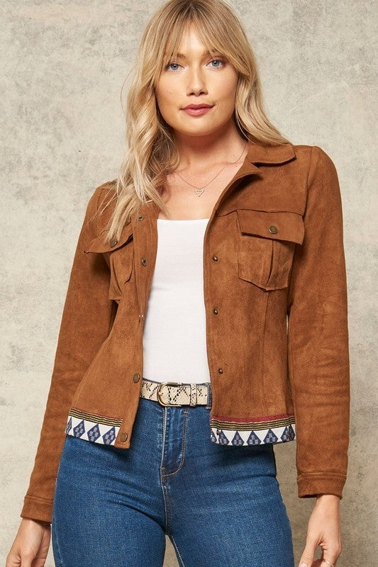 Geo Star Cropped Jacket
