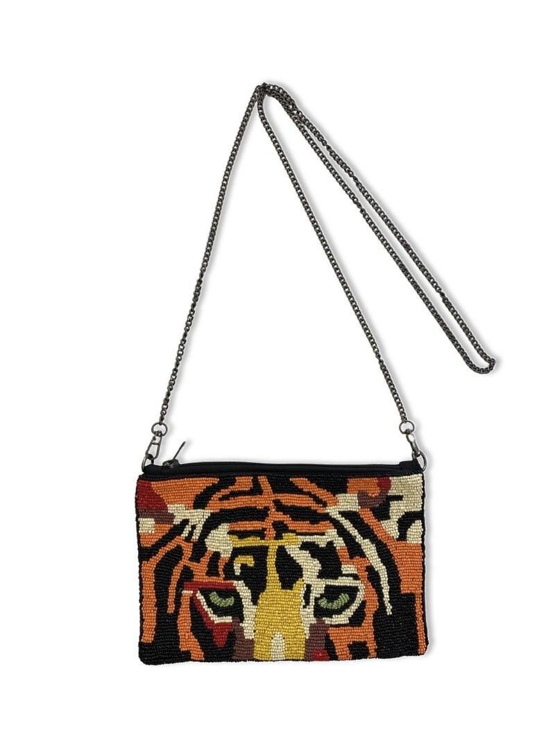 Let The Fun Begin Tiger Bead Clutch - Multi