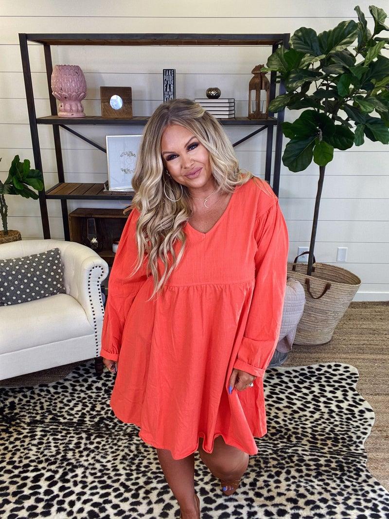 Livin' the Dream Dress - Tangerine