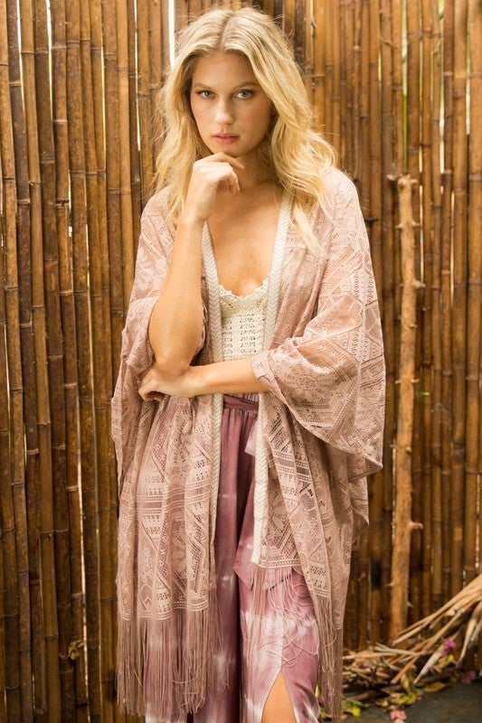 It's In the Details Kimono - Taupe