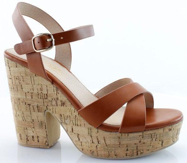 Never Fails Cork Heeld Sandal
