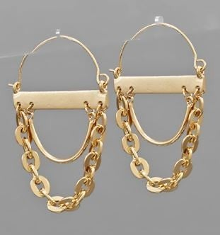 Enchanting Moment Hoop Earrings-Gold