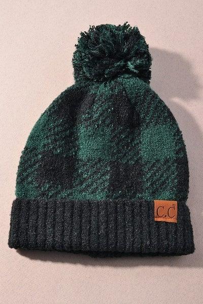 Winter Wonderland Beanie Hat - Black/Deep Pine