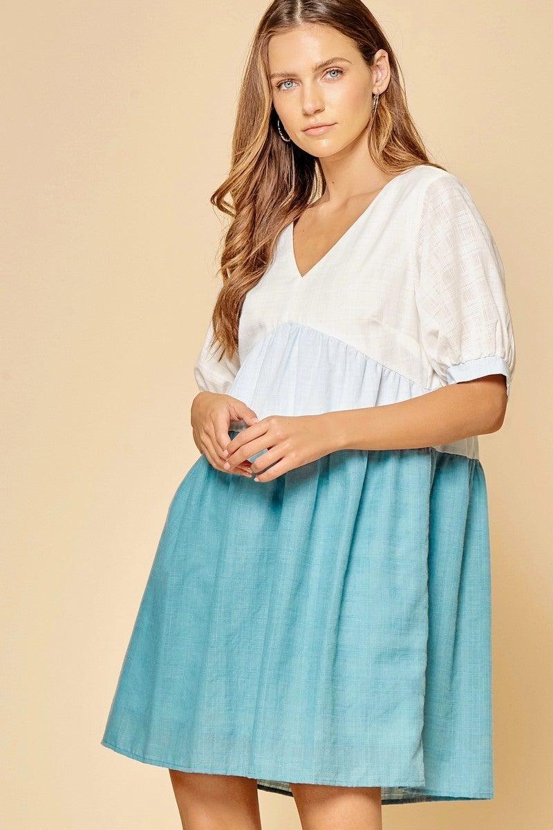 PLUS/REG Sweet Emotions Dress - Blue