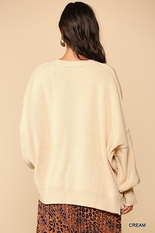Love That Slouch Top - Cream