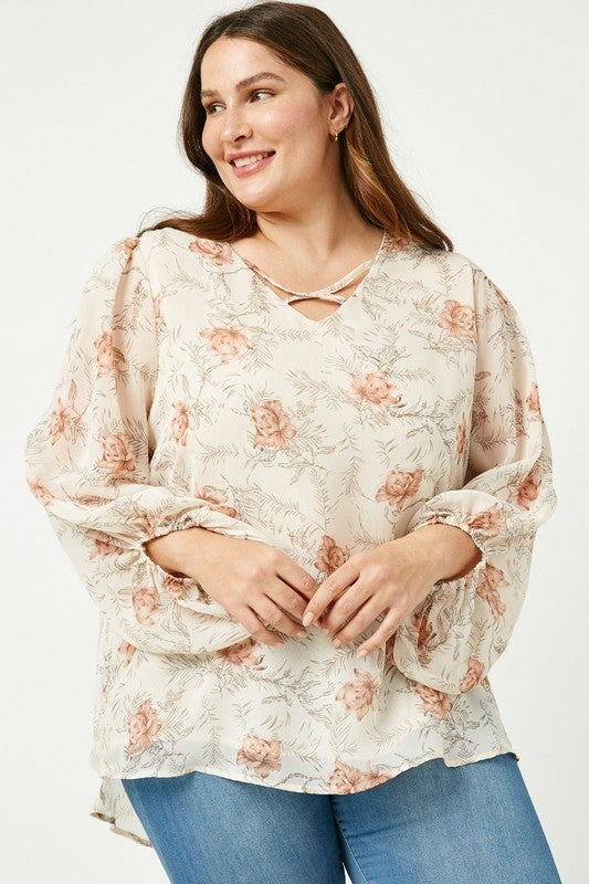 Blooming Good Time Top - Ivory