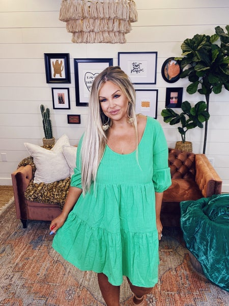 Envy With Love Dress - Green Apple