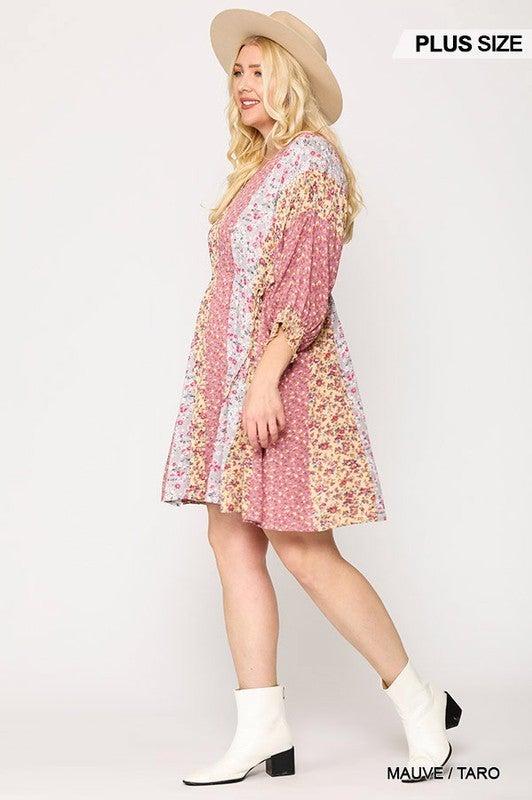 Keeping Promises Peplum Dress - Mauve