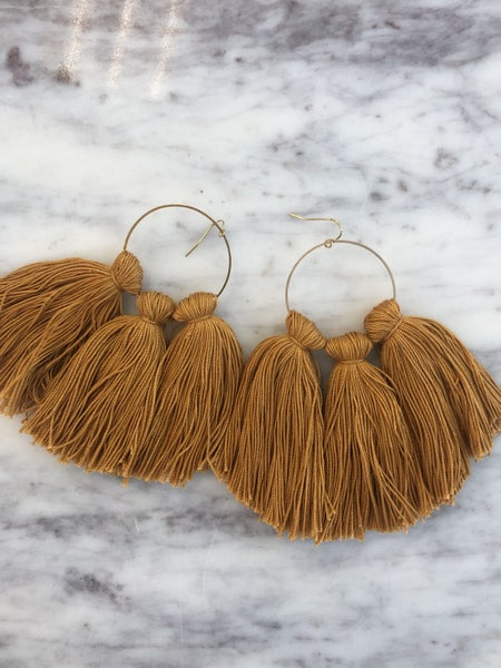 Chic'd Out Tassel Hoops