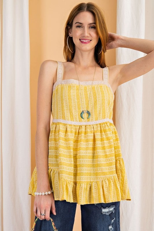 It's A Journey Top - Yellow