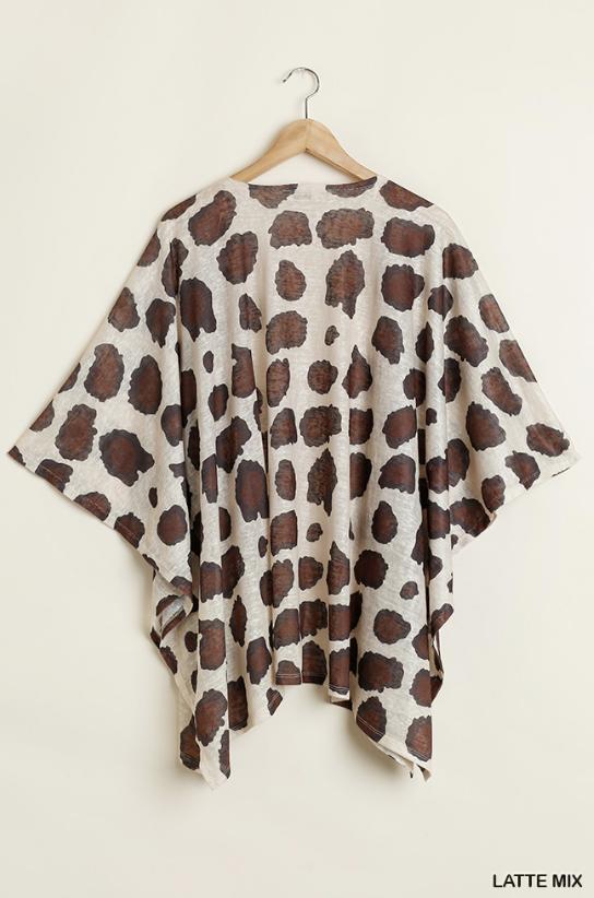 PLUS/REG Wild ABout You Kimono - Latte Mix