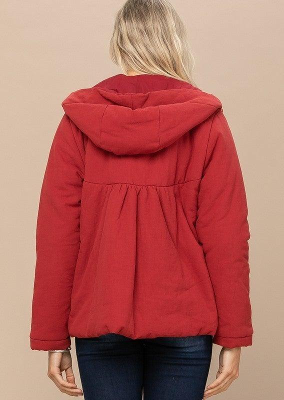 Reg/Plus Warm Me Up Jacket - Dark Red
