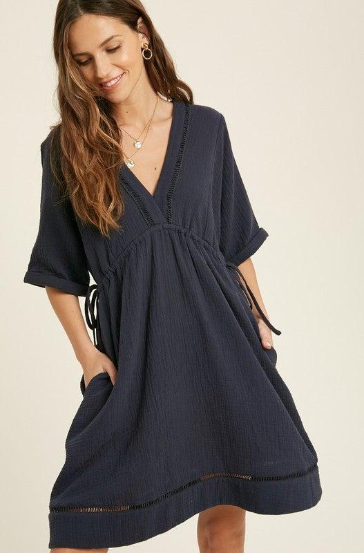 Everything Nice Dress - Navy