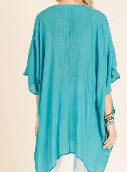 REG/PLUS Rescue Me Kaftan-Turquoise