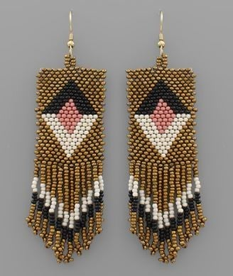 Steal The Show Earrings - Gold Multi