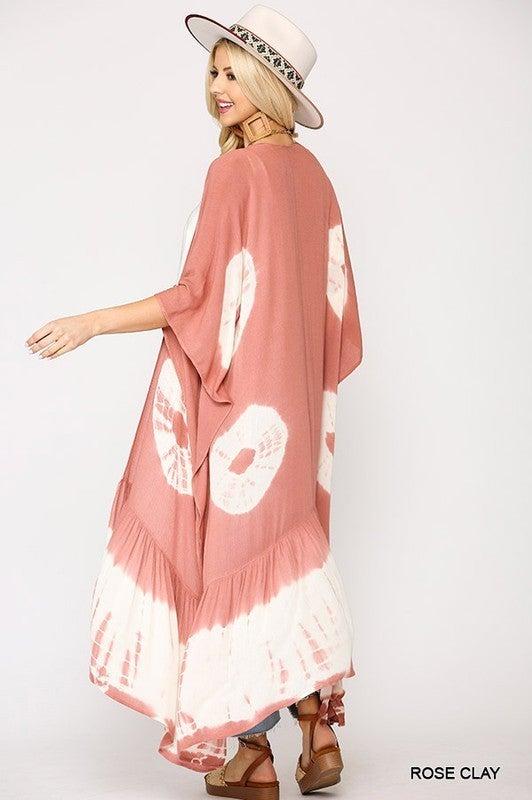 All The Vibes Kimono - Rose