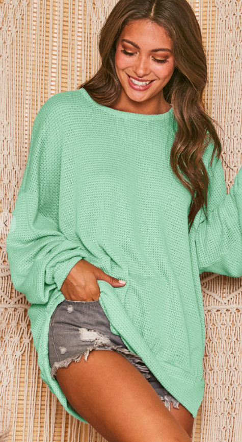 All Shook Up Sweatshirt - Mint